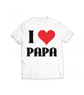 i love papa printed graphic t-shirt