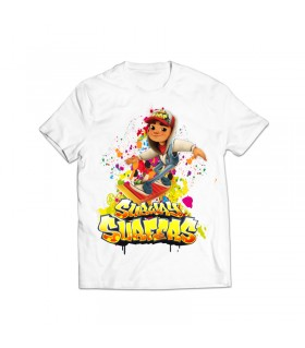 subway surfers printed graphic t-shirt