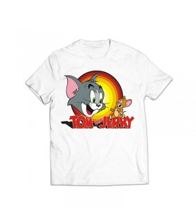tom and jerry printed graphic t-shirt