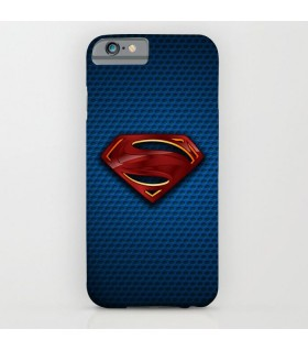superman logo with back texture art printed mobile cover