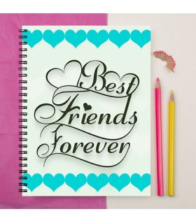 best friend forever  art printed notebook