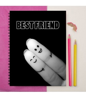 finger best friend printed notebook