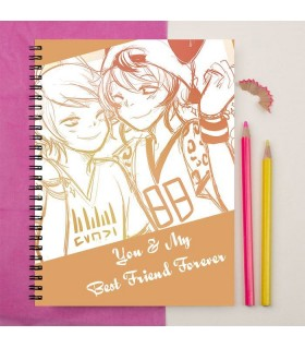you are my best friend forever printed notebook