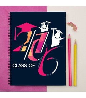 2016 GRADUATION BLUE PINK ART PRINTED notebook