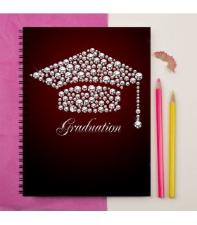 diamonds cap vector graduation printed notebook
