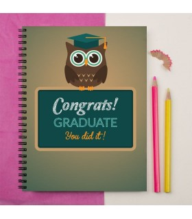 congrats graduate class of 2016 printed notebook