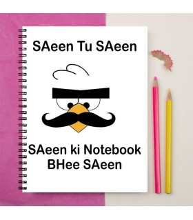 ANGRY BIRD SAEEN PRINTED notebook