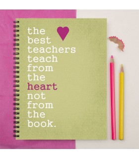 the best teacher printed notebook