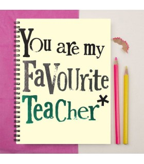your are my favourite teacher ever printed notebook