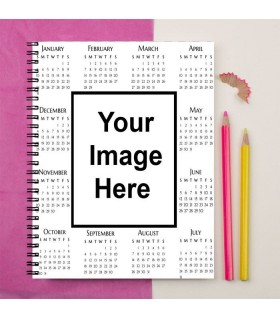 Add Your Image On calendar Printed Notebook
