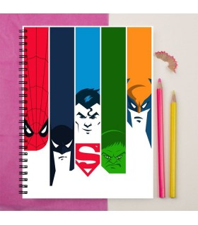 avengers printed notebook