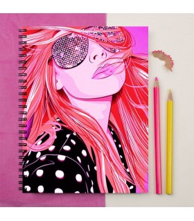 Dancing Disco Girl Printed Notebook