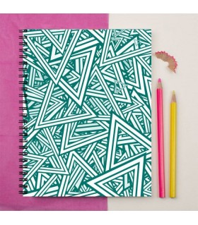 deco triangle  Printed Notebook