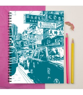 china town printed notebook