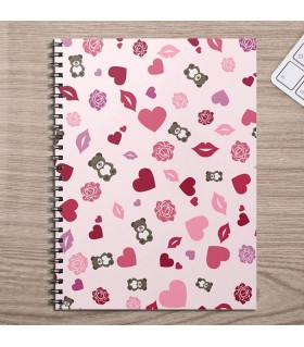 Cute Pink Valentines Day Printed Notebooks