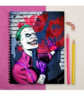 danger joker of Suicide squad art printed notebook