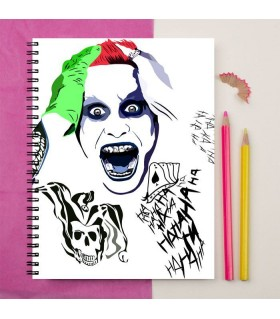 joker  face of suicide squad art printed notebook