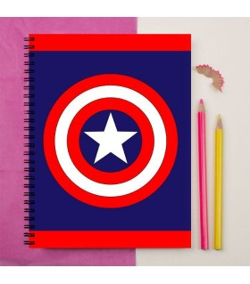 captain america logo art printed notebook