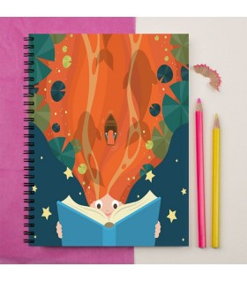 imagination story art printed notebook