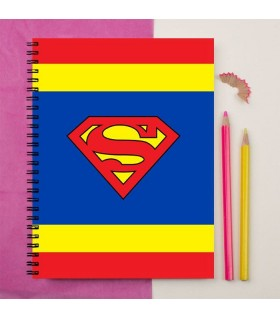 superman logo printed notebook