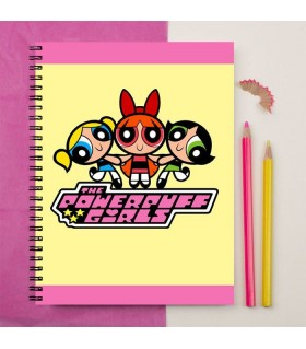 the powerpuff girls printed notebook