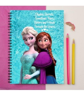 frozen sister printed notebook