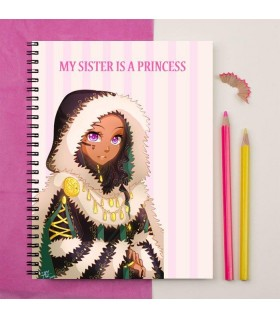 my sister is a princess printed notebook