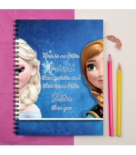 sister is a best friend printed notebook