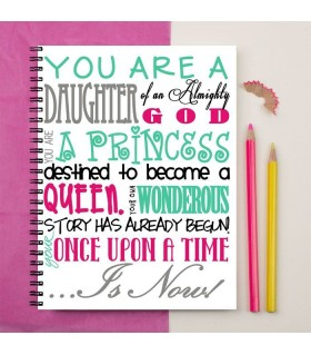 you are a daughter of almighty GOD printed notebook