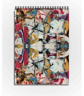 abstract art printed sketchbook