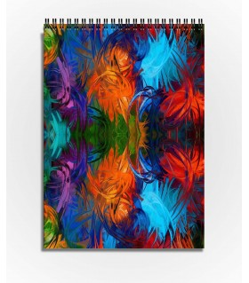 color full grass art printed sketchbook