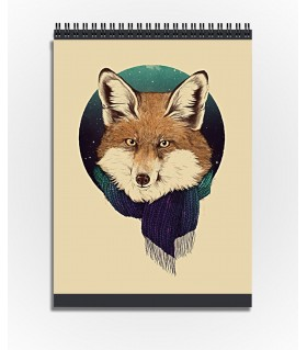 fox art printed sketchbook