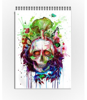 garden skull art printed sketchbook