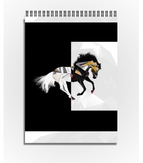 horse graphic art printed sketchbook