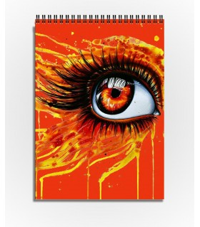 orange eye art printed sketchbook