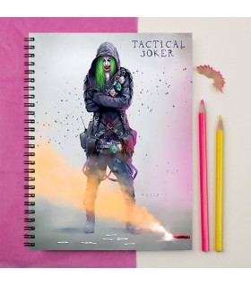 tactical joker of suicide squad art printed notebook