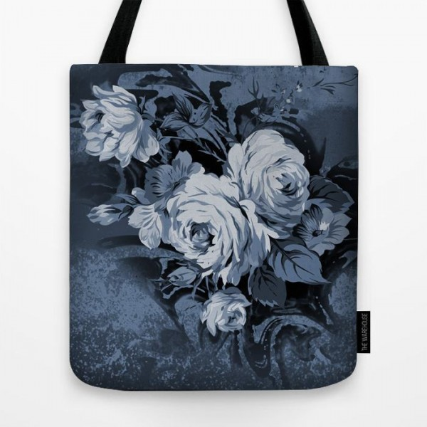 Floral Art Printed Tote Bag