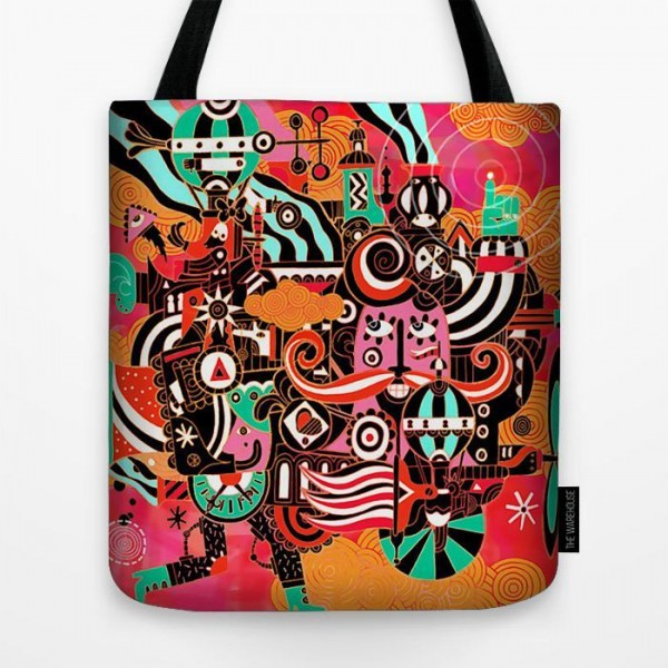 Wild Wold Art Printed Tote Bag