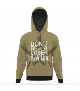 KILL THE DEFUSER all over printed hoodie