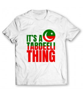 tabdeeli thing printed graphic t-shirt