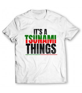 tsunami things printed graphic t-shirt