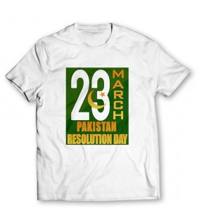 pakistan resolution day printed graphic t-shirt