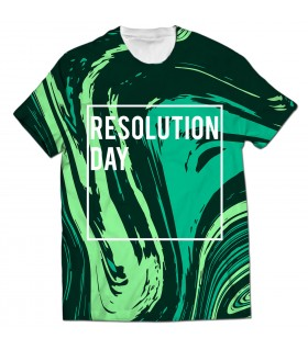 resolution day all over printed t-shirt