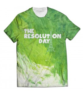 the resolution day all over printed t-shirt