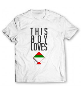 boy loves mqm printed graphic t-shirt