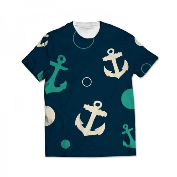 anchor all over printed t-shirt