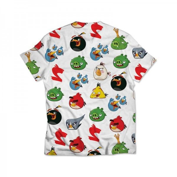 angry birds all over printed t-shirt