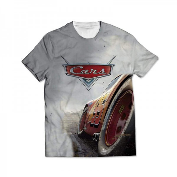 cars all over printed t-shirt