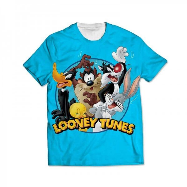 looney tunes all over printed t-shirt