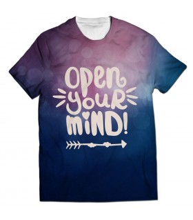 open your mind all over printed t-shirt